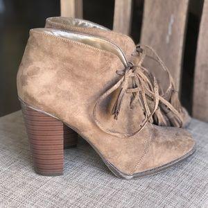 Cool brown booties